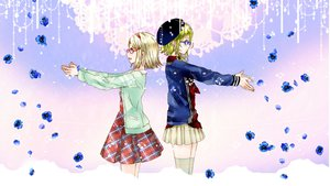 Rating: Safe Score: 30 Tags: dress ebisu_kana flowers glasses gumi kagamine_rin vocaloid User: NagatoNeko
