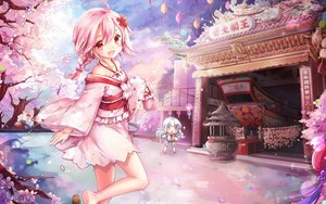 Rating: Safe Score: 110 Tags: braids cherry_blossoms chibi japanese_clothes landscape pink_eyes pink_hair scenic sergestid_shrimp thighhighs yukata User: humanpinka