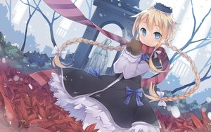 Rating: Safe Score: 121 Tags: blonde_hair blue_eyes blush braids dress flowers fred04142 gloves hat long_hair magi_in_wanchin_basilica ribbons scarf snow winter xiao_ma User: Flandre93