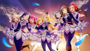 Rating: Safe Score: 41 Tags: clouds feathers group heru_(totoben) kunikida_hanamaru kurosawa_dia kurosawa_ruby long_hair love_live!_school_idol_project love_live!_sunshine!! matsuura_kanan ohara_mari sakurauchi_riko short_hair sky takami_chika tsushima_yoshiko watanabe_you User: RyuZU