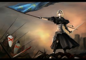 Rating: Safe Score: 88 Tags: armor blue_eyes fate/apocrypha fate_(series) jeanne_d'arc_(fate) nopnop short_hair User: Holzfeller