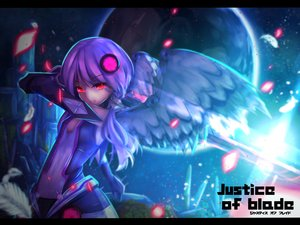 Rating: Safe Score: 99 Tags: kagayan1096 katana long_hair petals purple_hair red_eyes sword twintails vocaloid weapon wings yuzuki_yukari User: Flandre93