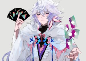 Rating: Safe Score: 23 Tags: all_male cape fate/grand_order fate_(series) hita_(hitapita) hoodie long_hair male merlin_(fate/grand_order) purple_eyes signed white_hair User: otaku_emmy