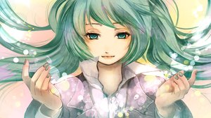 Rating: Safe Score: 34 Tags: aqua_eyes aqua_hair hatsune_miku long_hair nobu_yan_(artist) shirt vocaloid User: FormX