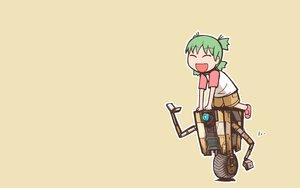 Rating: Safe Score: 29 Tags: borderlands borderlands_2 claptrap crossover green_hair koiwai_yotsuba loli nns_(sobchan) robot short_hair shorts yellow yotsubato! User: RyuZU