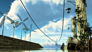 Rating: Safe Score: 66 Tags: 3d clouds original ruins scenic sky water windmill y-k User: STORM