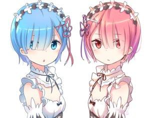 Rating: Safe Score: 199 Tags: 2girls aqua_eyes aqua_hair close flat_chest headdress maid pink_eyes pink_hair piripun ram_(re:zero) rem_(re:zero) re:zero_kara_hajimeru_isekai_seikatsu short_hair sketch twins User: FormX