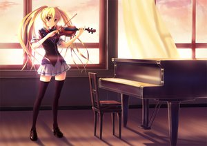 Rating: Safe Score: 124 Tags: instrument natsuin seifuku thighhighs violin User: gnarf1975