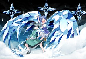 Rating: Safe Score: 35 Tags: bleach cirno katana konpaku_youmu parody sword touhou weapon wings User: 秀悟