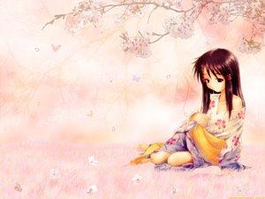 Rating: Safe Score: 31 Tags: cherry_blossoms close_to flowers goto_p long_hair omoi_no_kakera spring tachibana_koyuki User: Oyashiro-sama