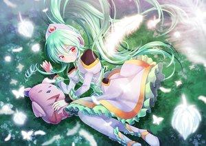Rating: Safe Score: 13 Tags: blush butterfly dress feathers galaxy_angel green_hair long_hair orange_eyes vanilla_h z.o.b User: RyuZU
