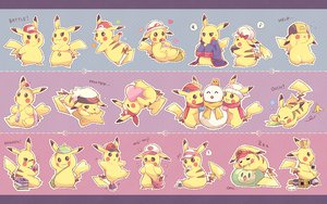 Rating: Safe Score: 93 Tags: blush book bow camera food glasses hat pikachu pokemon scarf sleeping tears torute User: Maboroshi