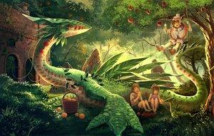 Rating: Safe Score: 147 Tags: barefoot building dragon food forest fruit grass hat long_hair male nagakura_(seven_walkers) orange_eyes orange_(fruit) original short_hair shorts tree User: Flandre93