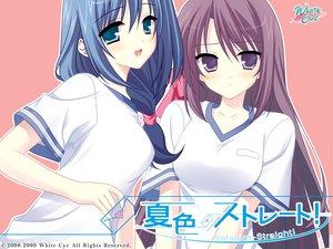 Rating: Safe Score: 29 Tags: blue_eyes blue_hair blush gym_uniform long_hair natsuiro_straight sumeragi_itsuki User: oranganeh