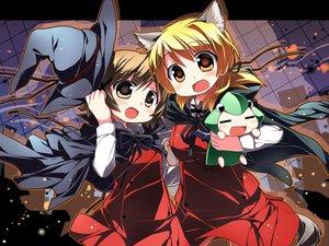 Rating: Safe Score: 19 Tags: animal_ears cape halloween hat hidamari_sketch miyako sakuraboshi_sora tail ume yuno User: HawthorneKitty