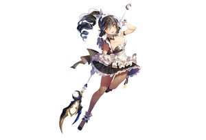 Rating: Safe Score: 61 Tags: ara_haan black_hair breasts cleavage dress elsword long_hair maid pantyhose photoshop ponytail staff sukja weapon white yellow_eyes User: luckyluna