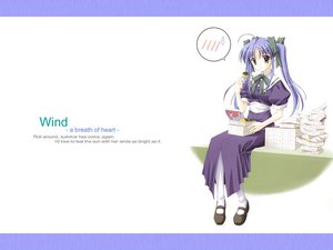 Rating: Safe Score: 3 Tags: blue_hair food narukaze_minamo school_uniform twintails wind:_a_breath_of_heart User: Oyashiro-sama