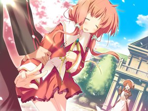 Rating: Safe Score: 4 Tags: amagahara_inaho cherry_blossoms happy_magarette sakura_mao User: 秀悟
