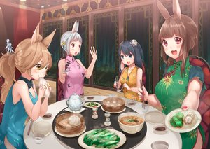 Rating: Safe Score: 22 Tags: animal_ears black_hair blue_eyes brown_hair bunny_ears bunnygirl chinese_clothes chinese_dress drink food gray_hair group long_hair original pink_eyes ponytail short_hair tagme_(artist) yellow_eyes User: luckyluna