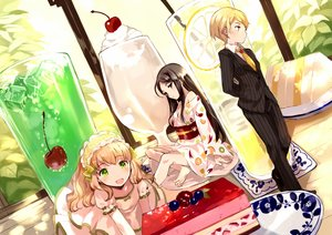 Rating: Safe Score: 38 Tags: cake drink headdress japanese_clothes original suit tan_(tangent) User: Flandre93