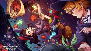 Rating: Safe Score: 60 Tags: akko_kagari blonde_hair boots brown_hair clouds dress fairy glasses hat little_witch_academia long_hair lotte_yanson magion02 pumpkin purple_hair red_eyes ribbons short_hair skull sky sucy_manbavaran witch witch_hat User: RyuZU