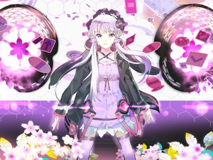 Rating: Safe Score: 136 Tags: 119 flowers hoodie long_hair purple_eyes purple_hair thighhighs twintails vocaloid voiceroid yuzuki_yukari User: FormX