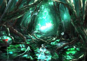 Rating: Safe Score: 108 Tags: butterfly dress forest original ponytail ryosios scenic water User: opai