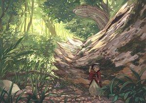 Rating: Safe Score: 33 Tags: animal bellabow brown_eyes forest grass gray_hair hat short_hair snake sukuna_shinmyoumaru touhou tree User: RyuZU