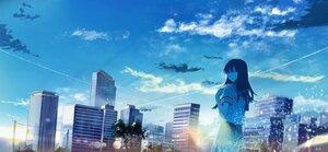 Rating: Safe Score: 19 Tags: building city clouds long_hair original polychromatic sakura_inu_(itoyatomo) scenic sky User: FormX
