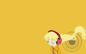 Rating: Safe Score: 12 Tags: headphones pani_poni_dash rebecca_miyamoto yellow User: rargy