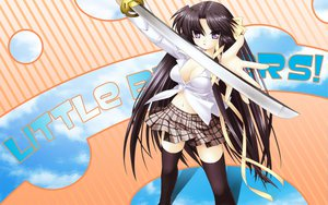 Rating: Safe Score: 35 Tags: kurugaya_yuiko little_busters! sword weapon zettai_ryouiki User: korokun