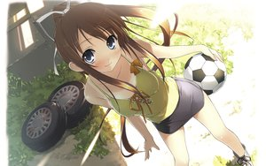 Rating: Safe Score: 179 Tags: blue_eyes brown_hair erect_nipples kantoku long_hair miyazawa_midori natsu_no_ame tan_lines User: dorobou