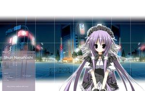 Rating: Safe Score: 21 Tags: black_eyes building city headband long_hair night purple_hair shuri_nanahoshi supreme_candy tree User: rargy