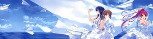 Rating: Safe Score: 32 Tags: deep_blue_sky_&_pure_white_wings dress koga_sayoko misaki_kurehito miyamae_tomoka scan sky summer_dress tsuyazaki_kokage User: Maho