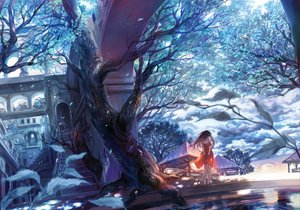 Rating: Safe Score: 44 Tags: dress long_hair scenic shimetta_oshime tree User: rodri1711