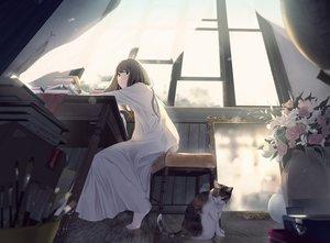 Rating: Safe Score: 76 Tags: animal cat long_hair maeda_mic original User: Dreista