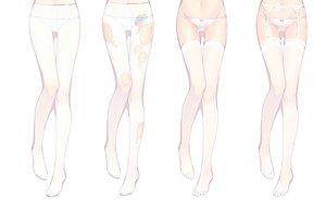 Rating: Questionable Score: 175 Tags: bisonbison garter garter_belt original panties pantyhose stockings striped_panties thighhighs torn_clothes underwear white User: FormX
