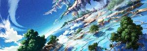 Rating: Safe Score: 51 Tags: aircraft clouds dualscreen landscape mocha_(cotton) nobody original scenic signed sky tree waifu2x water User: RyuZU