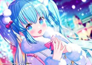 Rating: Safe Score: 37 Tags: aqua_eyes aqua_hair blush bow close hatsune_miku ikari_(aor3507) long_hair night twintails vocaloid yuki_miku User: Maboroshi