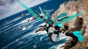 Rating: Questionable Score: 39 Tags: ektyr_y hatsune_miku miku_append twintails vocaloid wings User: gnarf1975