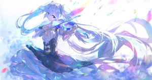 Rating: Safe Score: 58 Tags: hatsune_miku instrument qtian sketch violin vocaloid User: FormX