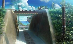Rating: Safe Score: 69 Tags: building clouds grass monorisu nobody original scenic sky water User: RyuZU