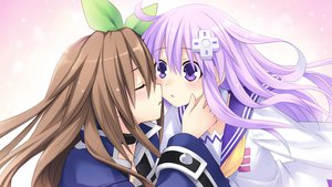 Rating: Safe Score: 83 Tags: brown_hair game_cg hyperdimension_neptunia_mk2 if nepgear purple_eyes purple_hair tsunako yuri User: meccrain