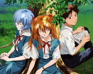 Rating: Safe Score: 50 Tags: ayanami_rei ikari_shinji neon_genesis_evangelion soryu_asuka_langley User: HawthorneKitty