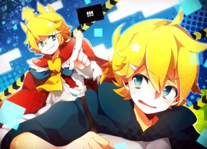 Rating: Safe Score: 17 Tags: akatonbo crown kagamine_len kagamine_rin vocaloid User: MissBMoon