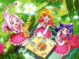 Rating: Safe Score: 1 Tags: asahina_mirai blue_hair bow candy drink flowers food grass green_eyes hat headband kneehighs lollipop long_hair mahou_girls_precure! orange_hair pink_eyes pink_hair ponytail precure purple_eyes scan short_hair tagme_(artist) tagme_(character) teddy_bear wand witch_hat User: RyuZU