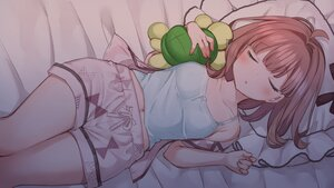 Rating: Safe Score: 71 Tags: bed blush brown_hair mankai_kaika original pajamas short_hair sleeping User: Arsy