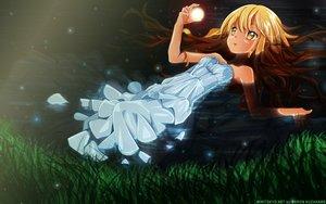 Rating: Safe Score: 31 Tags: blonde_hair dress kuzakawe_maron long_hair summer_dress tagme wet User: gnarf1975