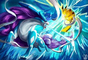 Rating: Safe Score: 45 Tags: animal mouse pikachu pointed_ears pokemon red_eyes sa-dui signed suicune tail User: mattiasc02