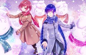 Rating: Safe Score: 20 Tags: hatsune_miku kagamine_len kagamine_rin kaito male megurine_luka meiko snow snowman totono vocaloid User: HawthorneKitty
